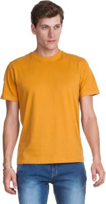Zovi Zovi Solid Men's Round Neck T-Shirt (Yellow)