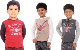 Bio Kid 3 IN 1 Printed Baby Boy's Round Neck T-Shirt (Pack Of 3)
