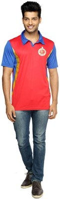 RCB Solid Men's Flap Collar Neck T-Shirt