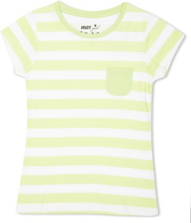 Max Striped Girl's Round Neck T-Shirt