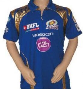 Mumbai Indians Printed Men's, Boy's, Women's, Girl's Polo Neck Blue T-Shirt