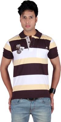 Raves Striped Men's Polo T-Shirt