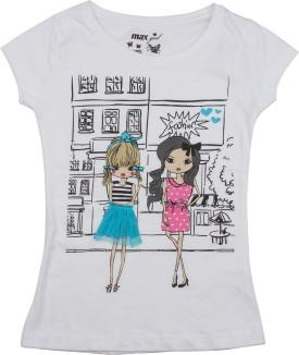 Max Printed Girl's Round Neck T-Shirt