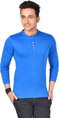 Buff Solid Men's Henley T-Shirt
