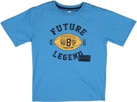 612 League Printed Boy's Round Neck Blue T-Shirt - TSHEH3BSGAGH4ZHH