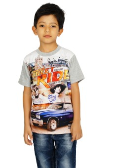 Shaun Grey Printed Boy's Round Neck T-Shirt