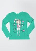 Fox Printed Girl's Round Neck T-Shirt