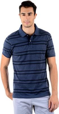 Mudo Striped Men's Polo Neck T-Shirt