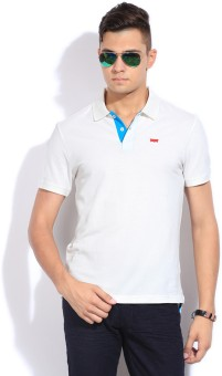 Levi's Solid Men's Polo Neck T-Shirt: T-Shirt