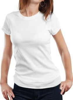 Fanideaz Solid Women's Round Neck White T-Shirt