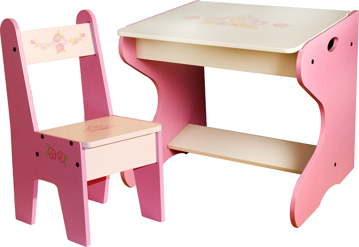 woody wood princess study table and chair 050 price in