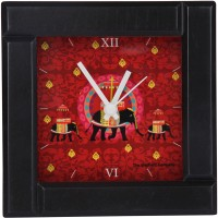 The Elephant Company Elephant Butti Alarm Table Clock Clock (Red)
