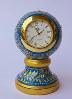 Dekor World Hand Painted Round Marble Clock Analog Clock Clock - Blue