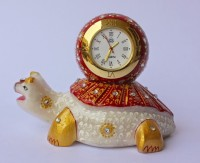 Dekor World Hand Painted Tortoise Clock Analog Clock Clock - Multi