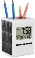 Harovi Tumbler With Digital And Temperature Digital Clock (White)