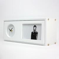 Taino Storage Box Table Or Wall Analog Clock White