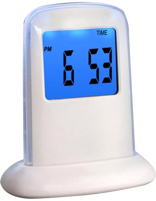 Power Plus Mini Push Panel Time Display Digital Clock White
