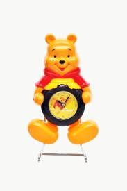 Priya Shop Analog Yellow Clock