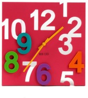 Cool Trends 3D Square pink Analog Clock - Pink