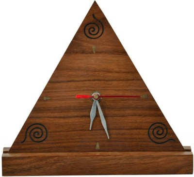 ExclusiveLane Table Clocks ExclusiveLane Analog Brown Clock
