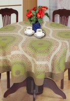 BIANCA Floral 4 Seater Table Cover GREEN / BROWN, Cotton