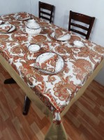 Heritagefabs Harmony 8 Seater Table Cover (Orange, Pack Of 1)