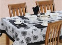 Swayam Libra Table Cover - Black, White, Pack Of 1 - TCVDXFC7WKQDN5Y3