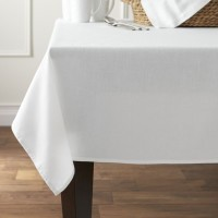 Smart Home Solid 2 Seater Table Cover White, Cotton