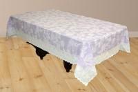 Katwa Clasic AOP Lace Vinyl Center 2 Seater Table Cover Purple, PVC