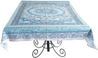 Ocean Home Store Floral 6 Seater Table Cover Blue, Cotton - TCVEMNFEBEEHAEKH
