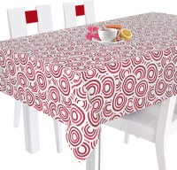 Smart Home Geometric 8 Seater Table Cover Red, Cotton
