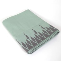 Cherrytin Linen Table Cover (Green, Grey, Pack Of 1)