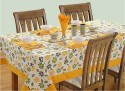 Swayam Libra Table Cover - Green, Yellow, White, Pack Of 1