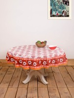 Ocean Collection Kadamba-3528-F Flower Print Table Cover (Multicolor, Pack Of 1)