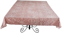 Ocean Home Store Floral 6 Seater Table Cover Brown, Cotton