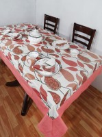 Heritagefabs Harmony 4 Seater Table Cover (Pink, Pack Of 1)