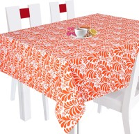Smart Home Floral 6 Seater Table Cover Orange, Cotton