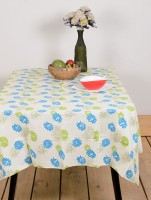 Ocean Home Store Floral 6 Seater Table Cover Blue, Cotton - TCVE9YDZJYCD6CCE