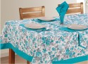 Swayam Libra Table Cover - Blue, Grey, White, Pack Of 1