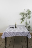 Ocean Collection Floral 6 Seater Table Cover Purple, Cotton