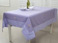 Maspar Floral 4 Seater Table Cover Purple, Cotton