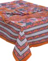 ChhipaPrints Hand Paint Table Cover - Orange, Pack Of 1