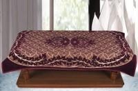 Bhavya Floral 2 Seater Table Cover Purple, Velvet