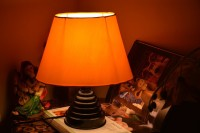 Yashasvi Oval Yellow Table Lamp Table Lamp (30 Cm, Yellow)