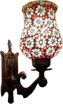 Wall Lamps Flipkart : Weldecor Antiua Brasso Floral Stars Wall Lamp 30 cm, Multocolor