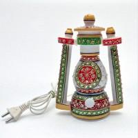 Gaura Art & Crafts Designer Lamp Table Lamp (10 Cm, White)