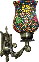 Weldecor Antiqua Brasso Polka Dots Era Wall Lamp (30 Cm, Multicolor)