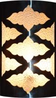 Kaltron Designer Arabic Light (Dressing/Bath) Wall Lamp (25 Cm, White Glass)
