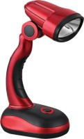 Bemoree METALLIC COB DESK LED LAMP (CLICK ADJUSTABLE NECK) Study Lamp (19.5 Cm, Red, Black)