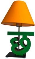 Sylvn Studio Cheerful CHH Letter Lamp Yellow Table Lamp (40.64 Cm, Brown)